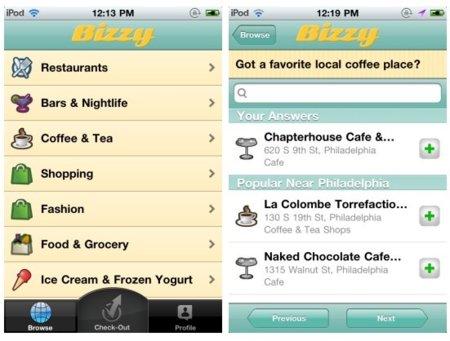"Bizzy para iPhone, un concepto diferente para hacer ""check-in"""