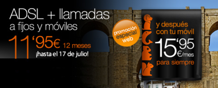 Orange mejora su promoción de ADSL igualando la duración del periodo promocional a la permanencia
