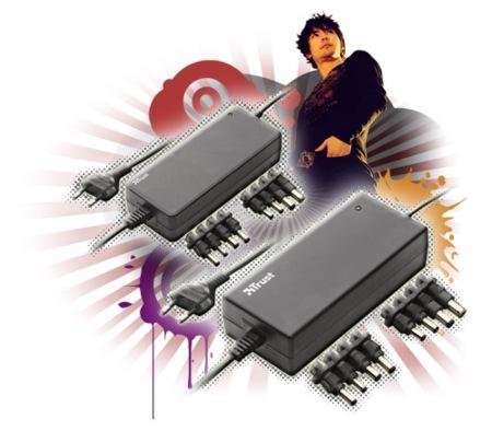 Trust Notebook Power Adapter Express, alimentador universal para portátiles