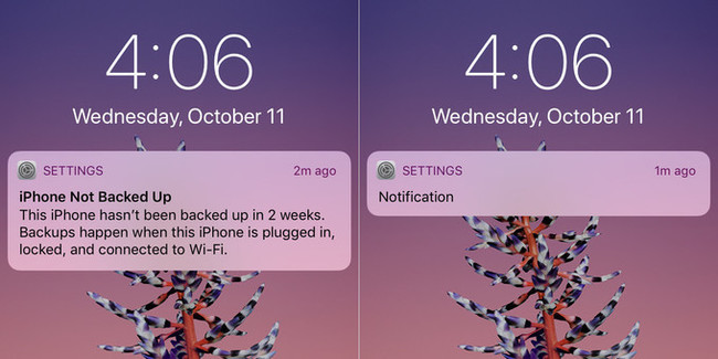 notificación iPhone X
