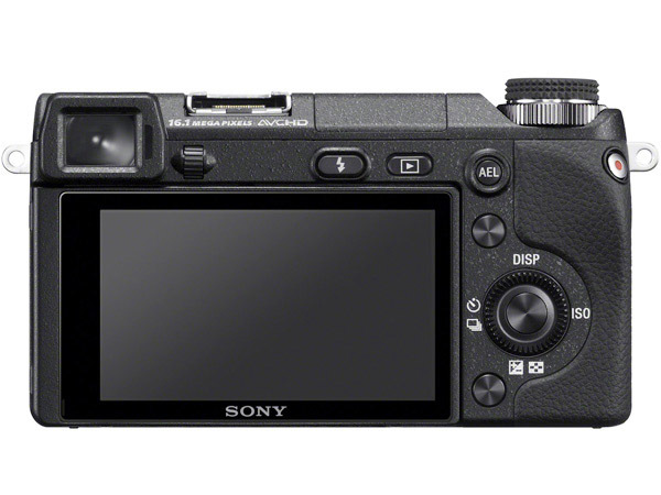 Sony NEX-6 vista trasera