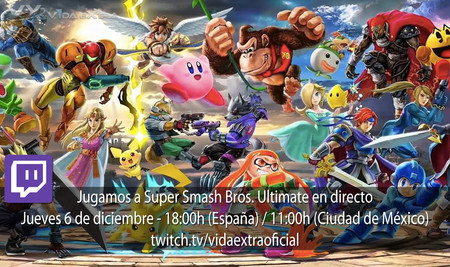Streaming de Super Smash Bros. Ultimate a las 18:00h (las 11:00h en CDMX)