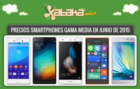 La gama media representada en 37 smartphones con su precio libre y pago a plazos  con operadores