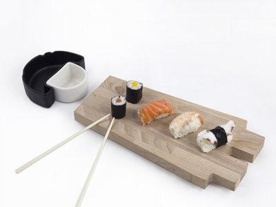 Tablas para sushi con un toque divertido