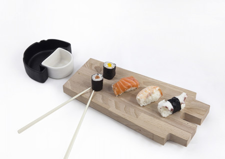 Tablas para sushi con un toque divertido