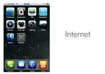 Pantalla iPhone Internet