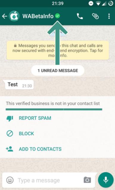 Perfiles verificados en WhatsApp