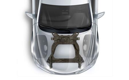 Magna y Ford crean un subchasis delantero de fibra de carbono, más sencillo y ligero