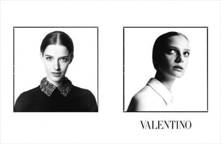 Valentino en blanco y negro para su campaña Otoño-Invierno 2014/2015