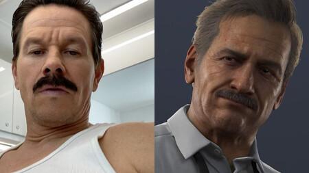 Mark Wahlberg se deja ver con el bigote que llevará en la película de Uncharted para interpretar a Sully