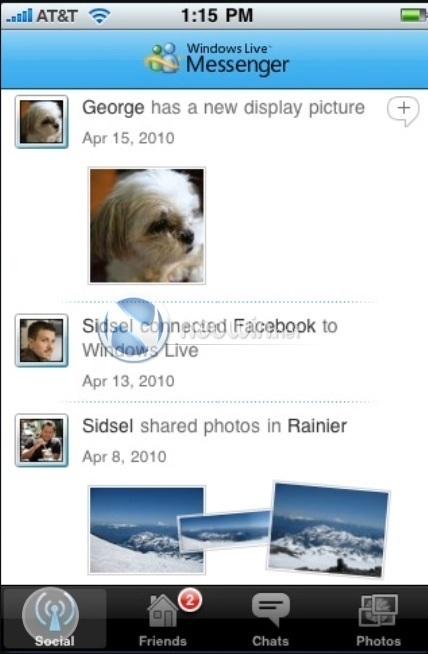 Messenger para iPhone