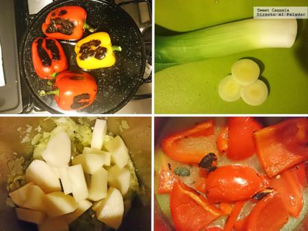 Preparacion Sopa Pimiento