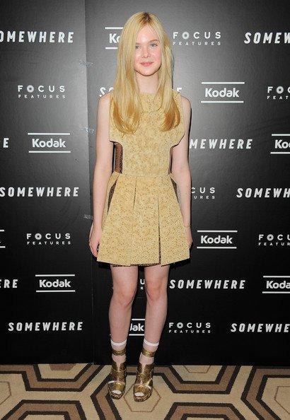 Elle Fanning (y algunas más) en la premiere de 'Somewhere' en Nueva York