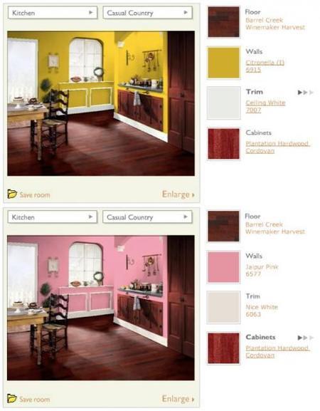 armstrong cocina rústica rosa y amarilla