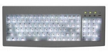 Teclado iluminado con LEDs