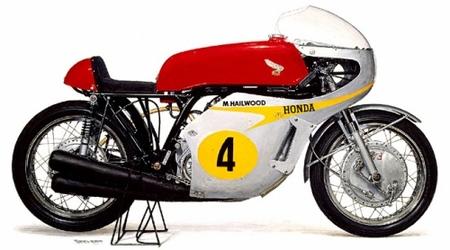 Mike Hailwood Isla de Man 1967 Honda RC181