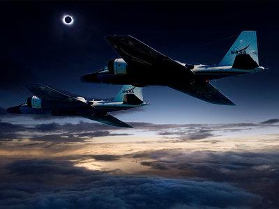 A la caza del eclipse solar total: dos aviones de la NASA lo perseguirán para capturar imágenes del Sol y Mercurio