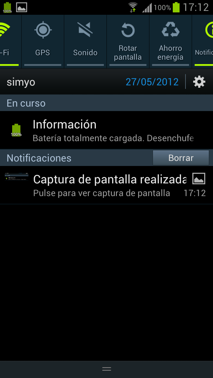 TouchWiz Samsung Galaxy S3
