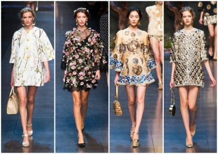 dolce and gabanna pv 2014 vestidos sixties