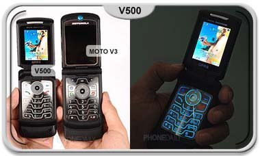 Imágenes del Motorola V500 robadas