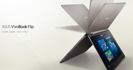ASUS actualiza convertibles VivoBook Flip con Intel Skylake y gráficos NVIDIA
