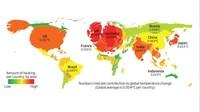 Mapa de los países que más influyen en el cambio climático