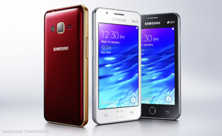 Samsung Unveils The Samsung Z1 The First Tizen Powered Smartphone For Indian Consumers