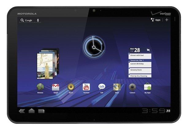 Frontal Motorola Xoom