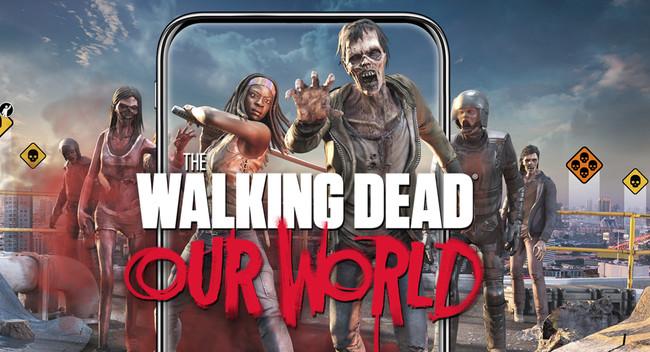 """""""The Walking Dead: Our World"""" ya disponible en Android e iOS: realidad aumentada para matar zombies por la calle"""