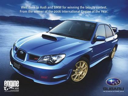 Guerra de publicistas anuncio Audi BMW Bentley Subaru