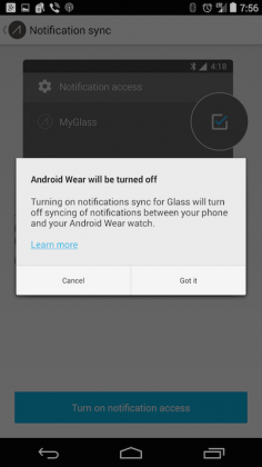 Google GLass Android Wear