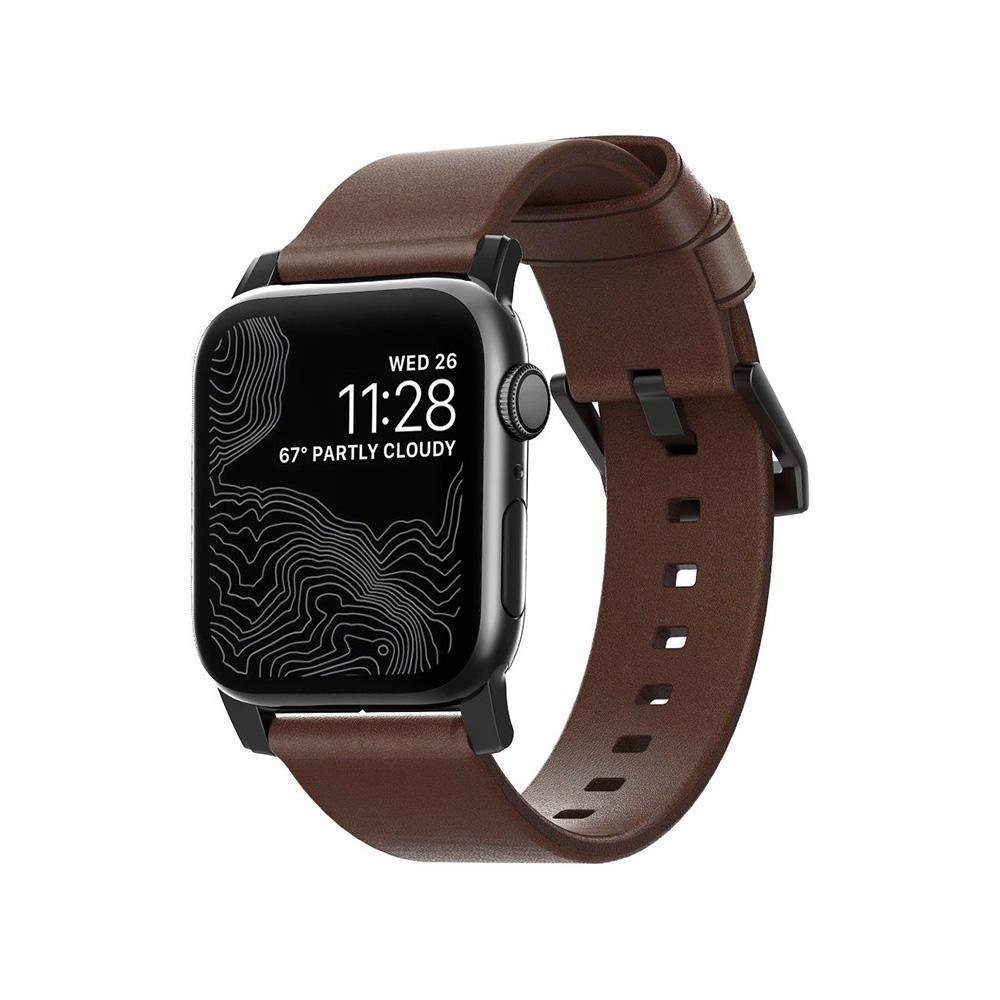 Nomad Modern Leather Correa Apple Watch 38mm/40mm Marrón (hebilla negra)