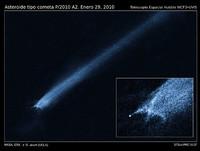 Posible colisión de asteroides captada con el Hubble