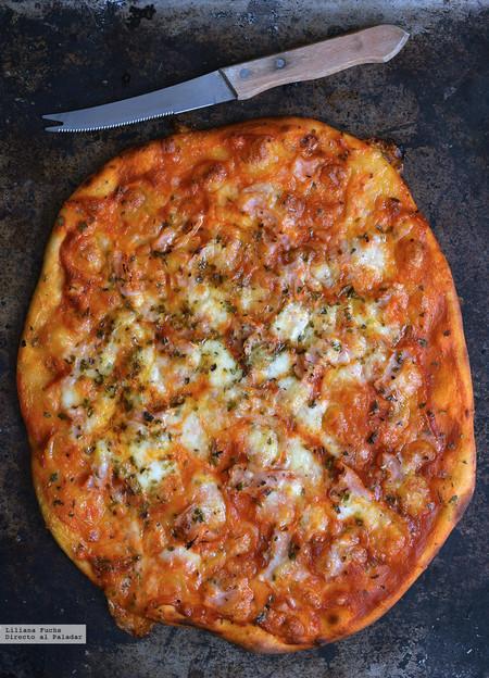 Pizza con dos ingredientes