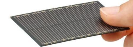 Panel solar ultradelgado de Sharp