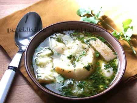 Sopa de cilantro. Receta