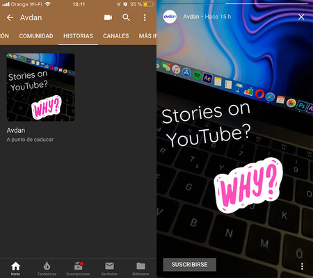 Stories Youtube Ios