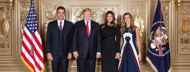 Begoña Gómez y su vestido de 2.300 euros para visitar a Melania Trump. ¿Un homenaje a Josep Font o una inspiración más?