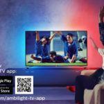 Si tienes una tele con Ambilight podrás poner de fondo la bandera de tu país en  los partidos de la Eurocopa