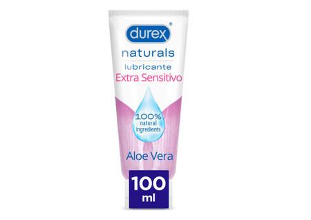 Durex Naturals Extra Sensitivo Lubricante Base Agua Aloe Vera Natural Sin Fragancia Colorantes Ni Agentes Irritantes