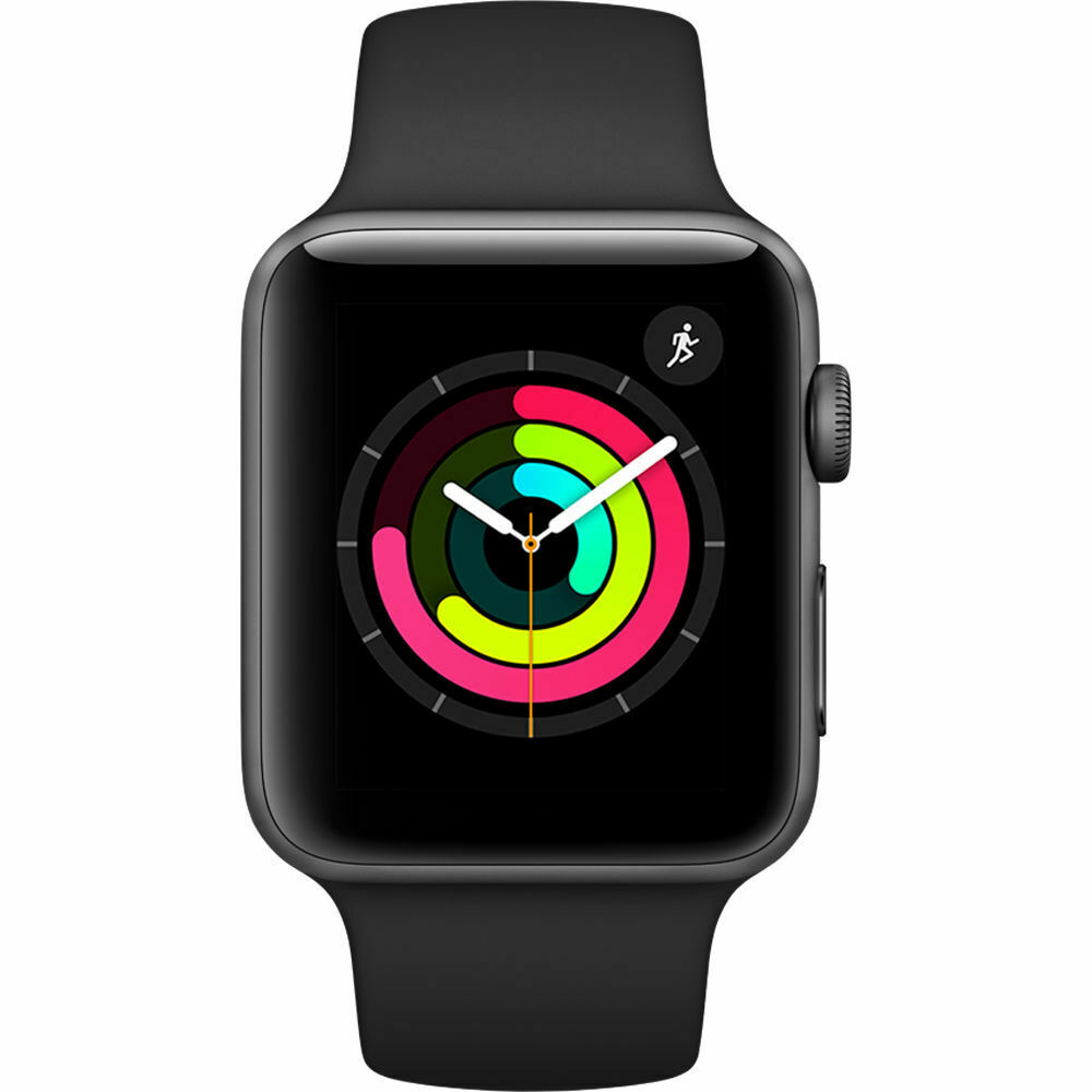 Apple Watch Series 3 (42 mm) en Gris Espacial y correa deportiva negra