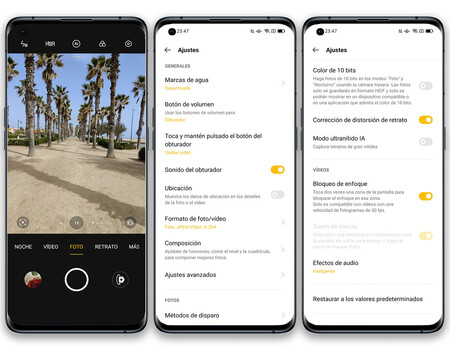 Oppo Find X3 Pro Interfaz Camara