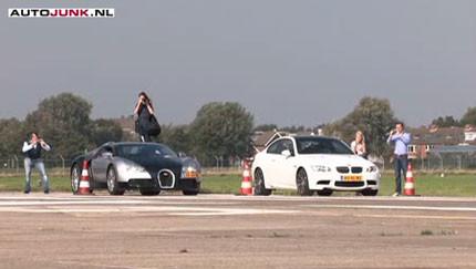 El BMW M3 se atreve con todo... incluso con un Bugatti Veyron