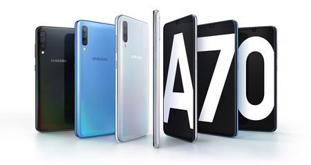 Samsung Galaxy A70: cámaras de 32 MP y 4.500 mAh de batería en el nuevo gigante de la serie A