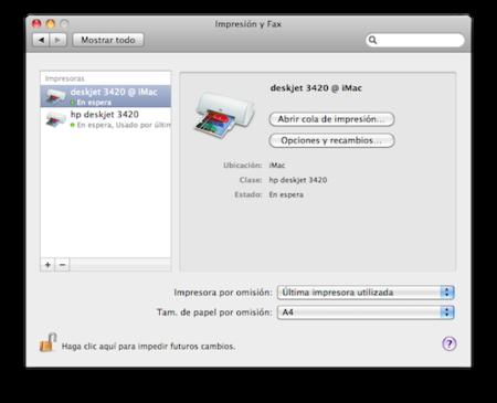 Instalación del controlador en Mac OS X 10.6