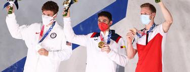 Alberto Ginés hace historia ganando el oro en la primera cita de la escalada como deporte olímpico