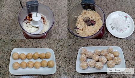 Bocadillos dulces de coco. Receta fácil