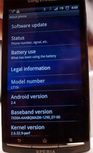 Android 2.4 en un Sony Ericsson Xperia Arc