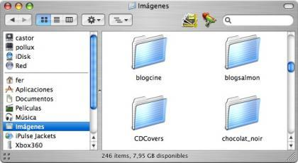 Aplicaciones en la barra de Finder