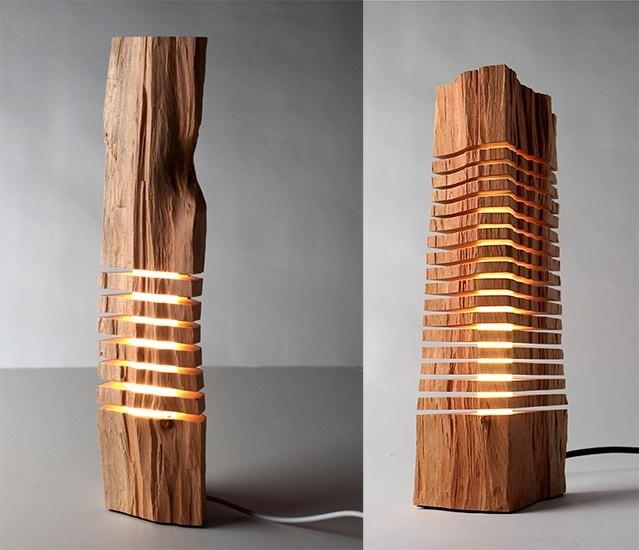 Luces dentro de madera perfecto para la decoraci n for Adornos de madera para pared